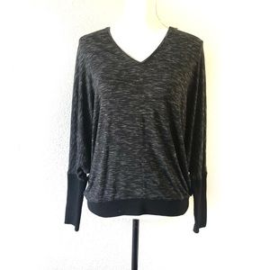 Club Monaco Black Dolman Oversized Stretch Sweater